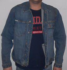 Jeans Herren Jacke L XL 100% Baumwolle Fact Company EDEL Design Jeans Look Jacke