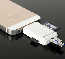 For iPad iPhone iPod IOS8 Touch Memory Card Lightning SD/TF i-Flash Drive NEW