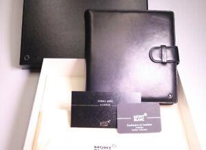 Montblanc Organizer A5 Cashmere Lambskin Leder Notizbuch in schwarz 18x18x4 cm
