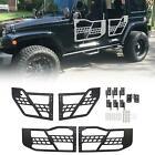 Fit 07-18 Jeep Wrangler JK Textured 4 Door Safari Steel Tubular Tube Doors LH RH