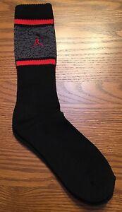 Nike Air Jordan Jumpman 23 Boys Crew Socks (9-11) 5Y-7Y ~ Black/Red & Gray *NEW*