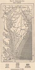 Chesapeake bay. usa 1885 old antique vintage carte plan graphique