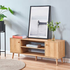 Modern TV Stand Console Table w/ Cabinet Shelf Spacious Storage Living Room New