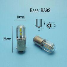 2 Lampadina Luce Bianca 4 LED SMD3528 12V  BA9S baionetta T4W H6W per auto
