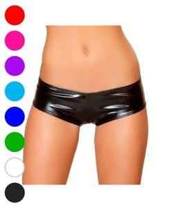 Metallic Pucker Back Mini Shorts - Roma Costume SHLQ230