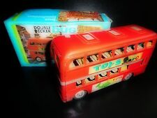 Vintage 1970's LONDON DOUBLE DECKER TOUR BUS By Friction Toys