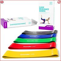Resistance Bands - Best Exercise Loop Band Set of 5 - FREE EBOOK - Workout Equip