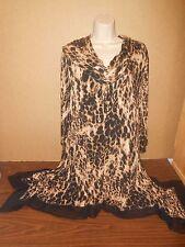 Plus Size Top Size 2X Cupio Woman Animal Print Tunic Blouse Career Casual