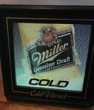 1990's Miller Genuine Draft Tascolite Motion Lighted Sign - Vintage - RARE
