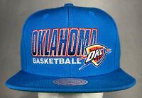 Mitchell and Ness NBA Oklahoma City Thunder OKC City Name Snapback Hat, New