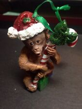"""Danbury Mint """"Orangutan"""" from The Baby Animal Ornaments Christmas Collection"""