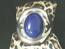 Vintage Sterling Silver Mexico Lapis Lazuli Cuff Bracelet Make Offer! #g1