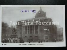 Merseyside LIVERPOOL The Flags & Town Hall c1912 RP by Kingsway S2563