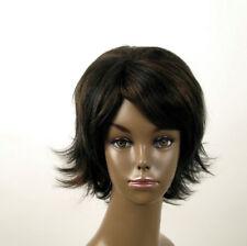 perruque afro femme 100% cheveux naturel méchée noir/cuivré KITTY 04/1b30