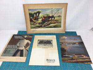 4 VINTAGE  RESTAURANT MENUS Cleveland Ohio - STOUFFERS, BOWEN, FRED HARVEY
