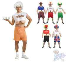 Adult Mens Funny Droopers Hooters Boobs Fancy Dress Stag FREE WIG & GLASSES