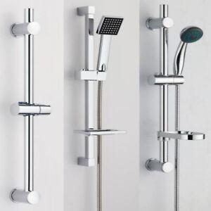 VeeBath Slider Rail Shower Riser Kit Soap Bar Holder Hose Head Adjustable Set