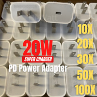 Wholesale Lot 20W USB-C Power Adapter PD Fast Wall Charger For iPhone 12 11 Pro