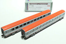 LS Models N ÖBB 2x 2. Klasse Liegewagen Bcmz 59-91.1 grau grau rot 77182 NEU OVP