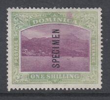 DOMINICA-1903-07 1/- Magenta & Grey-Green Sg 33 specimen overprint-mint no gum