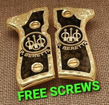 Premium pietro beretta 92fs mexican grips 24k gold Plated custom made engraved