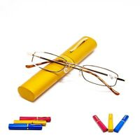 Unisex  Reading Glasses With Tube Case New +1.5+2.0+2.5+3.0