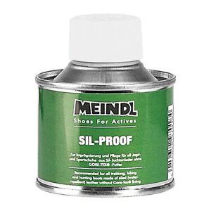 (100ml / 11,95€) Meindl Pflegemittel SilProof, 125 ml, für Schuhe Juchtenleder