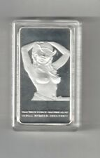 SEXY BUSTY NAKED LADY WOMAN GIRL COWGIRL PROOF SILVER CLAD COIN TOKEN MEDAL BAR