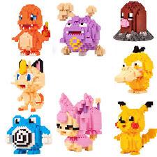 Cute LOZ Block Pokemon Diamond Mini Building Blocks Toys Pocket Monster 8 Model