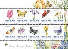 Paises Basos 2016  Marposa - flores  3 bloque   menta                   s