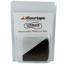 2 Inch Black & White Hazard Reflective Tape for Fence & Mailbox - 36 Inch Roll