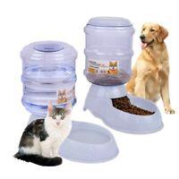 3.8L Plastic Cat Dog Automatic Feeder-Waterer Pet Bowl Dispenser Self-Dispensing