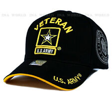 U.S. ARMY hat cap Military VETERAN ARMY STRONG Licensed Baseball cap- Black/Gold