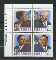 Canada MNH #1302-05 PL BL UL Canadian Doctors 1991  A256