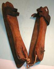 Early 1900's Ice Skates Wood Platforms Steel Blades