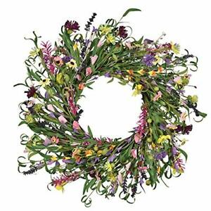 Floral Wreath Artificial Flower Wreath Spring and Summer 26'' Multicolor