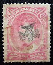 Hawaii 49 Rare Small Maltese Cross SON Cancel Opium Stains
