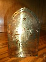 """Vintage Yulelite Solid Brass Tealight/Votive Candle Holder Original Box 5.5""""  91"""