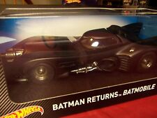 "HOT WHEELS CMC96  BATMOBILE FROM 1989 HIT MOVIE ""BATMAN RETURNS"" 1/18 NIB"