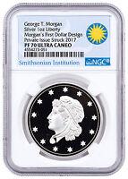(2017) Smithsonian Morgans First Silver Dollars 1 oz Silver NGC PF70 UC SKU47352