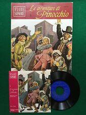 """LE AVVENTURE DI PINOCCHIO 5 , FIABE SONORE + Disco 45"""" , 1a Ed Fabbri (1966)"""