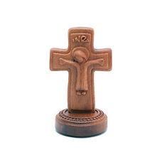 Wood Jesus Cross Dashboard Crucifix Figurine Car Attachment Holy Gift JC854