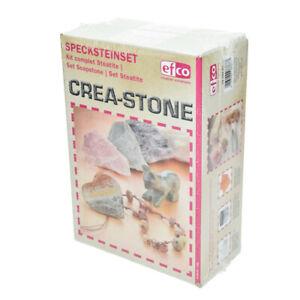 Speckstein Set 8-teilig 1,5kg Speckstein, Schleifpapier & -schwamm, Feile, Paste