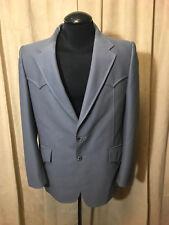 Mens Vintage 70s Prestige West Western Blazer Size 42R Gray polyester