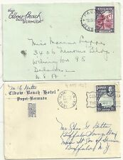 2 DIFF BERMUDA ADVERTISING COVERS ELBOW BEACH HOTEL 1930s 2½d & 6d POSTAGE RATES