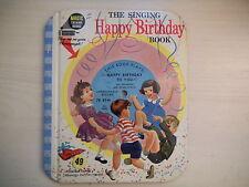 RARE Magic Talking Books The Singing HAPPY BIRTHDAY Book 1955