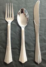 120 pc Reflections plastic silver 40 spoons 40 forks 40 knives