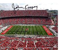 John Cooper Ohio State signed autographed football photo Buckeyes COA a