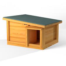 More details for predator proof hedgehog hibernation shelter solid wood habitat nest box house