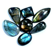 7 Pcs Natural Rainbow Labrodorite Cabochon Cut 117.5 Ct Untreated Loose Gemstone